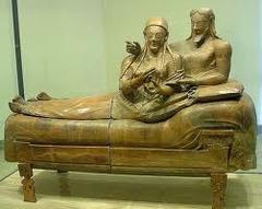 Sarcophagus of the Spouses. Etruscan, c. 520 bce terra cotta