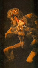 Saturn Devouring One of His Children, Francisco de Goya, Prado, Madrid,Spanish Romanticism