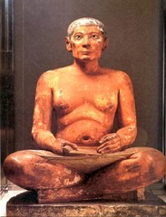 Seated Scribe, c. 2400 ,Egyptian Old Kingdom Art