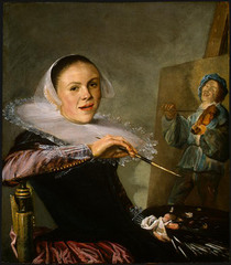 Self-Portrait, Judith Leyster, 1633, National Gallery, Washington,Dutch Baroque Art