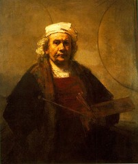 Self-Portrait, Rembrandt van Rijn,Dutch Baroque Art