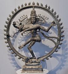 Shiva as Lord of Dance (Nataraja) HIndu; India, Chola Dynasty. 11th century ce. cast bronze
