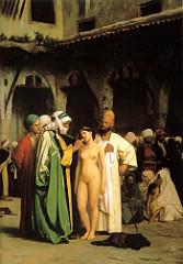 Slave Market by Jean-Leon Gerome, 1866