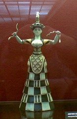 Snake Goddess, c. 1600 B.C.E., Boston,Minoan/Aegean Art