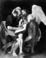 St. Matthew by Caravaggio (destroyed)  1601-1602