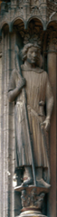 St. Theodore, South Transept Portal, Chartres Cathedral, 1230-1235, France, limestone  (High Gothic Art)