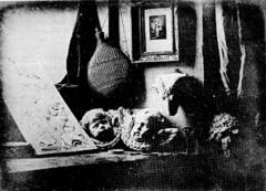 Still life in Studio. Daguerre. 1837. Daguerreotype