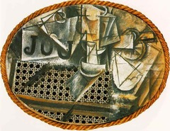 Still Life with Chair Caning by Pablo Picasso, 1912