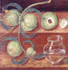 Still Life with Peaches, 50 CE, fresco,Roman Art