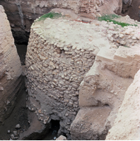 Stone tower built into the settlement wall, Jericho