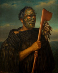 Tamati Waka Nene. Gottfried Lindauer. 1890 C.E. Oil on canvas.