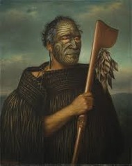 Tamati Waka Nene c. 1890 CE oil on canvas Gottfried Lindauer #220  -record likenesses -allow ancestors to remain in the life of the living (embodiment) -New Zealand - Maori peoples -shows change to Wesleyan faith -believed to be based off a photograph -Tamati waka Nene was an important leader of the Maori peoples