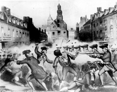 Tensions rose in the colonies when this incident left Crispus Attucks and four others dead: