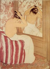 The Coiffure. Cassatt. 1890-1891. Drypoint and aquatint
