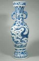 The David Vases. Yuan Dynasty, China. 1351 ce. White porcelain with cobalt blue underglaze