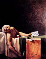The Death of Marat by Jeacques-Louis David, 1793