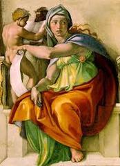 The Delphic Sibyl. Sistene chapel ceiling. Michelangelo.