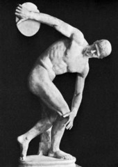 The Discus Thrower,Myron, c. 450 B.C.E., marble/ bronze,Greek Classical