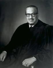 The first black American ever to serve on the U.S. supreme court