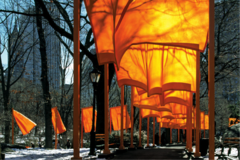 The Gates. New Youk City, US Christo and Jeanne-Claude. 1979-2005 ce. mixed media