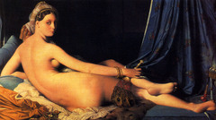The Grand Odalisque, Jean-Auguste Ingres, 1814, Louvre Paris,French Romanticism