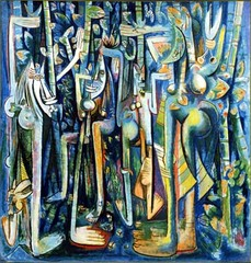 The Jungle  Wifredo Lam. 1943 C.E. Gouache on paper mounted on canvas The work,