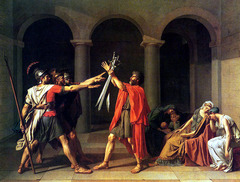 The Oath of the Horatii. David. 1784. oil on canvas