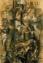 The Portuguese. Braque. 1911. oil on canvas