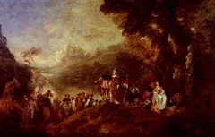 The Return from Cythera, Jean-Antoine Watteau,1717-1719 Louvre, Paris,French Rococo Art