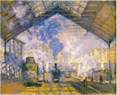 The Saint-Lazare Station. Monet.1877. oil on canvas