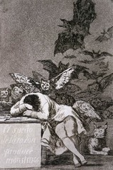 The Sleep of Reason Produces Monsters, Francisco de Goya, 1799,Spanish Romanticism