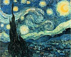 THe Starry Night. van Gogh. 1889. oil on canvas