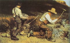 The Stone Breakers. Courbet. 1849. oil on canvas