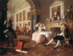 The Tete a Tete from Marriage a la Mode, Hogarth, 1743, oil on canvas