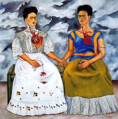 The Two Fridas. Frida Kahlo. 1939. oil on canvas