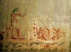 Ti and the Hippopotamaus Hunt (Old Kingdom)  (Egypt)