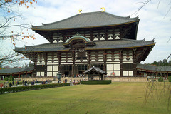 Todai-ji. Nara, Japan. Various artists, sculptors Unkei and Keikei, Kei school. 743 ce. rebuilt 1700 Bronze and wood
