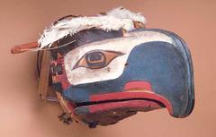 Transformation mask. Kwakwaka'wakw. Northwest coast of Canada. Late 19th century ce. wood, paint, and string