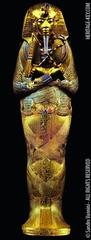 Tutankhamun's tomb, innermost coffin, New Kingdom, 18th Dynasty. c. 1323 bce gold with inlay of enamel and semiprecious stones