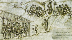 Utrecht Psalter,830-832,ink on vellum,Carolingian Art