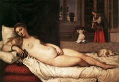 Venus of Urbino. Titian. 1538. oil on canvas