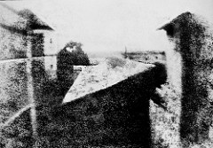 View from His Window at Le Gras - Joseph Nicephore Nipce