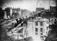 View of Boulevard du Temple - Louis Jacques Mande Daguerre