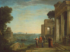 View of Carthage with Dido and Aeneas by Claude Loraine, 1675
