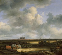 View of Haarlem from the Dunes at Overveen by Jacob van Ruisdael, 1670
