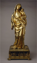 Virgin and Child (silver gilt and enamel, Louvre, Paris) (Gothic art, 1150-1400)