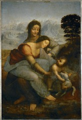 Virgin and Child with St. Anne Painting by Leonardo Da Vinci 1508
