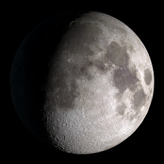 Which photo shows what we call a gibbous moon?