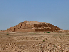 White Temple and its Zuggurat Uruk (modern Warka, Iraq). Sumerian. c. 35000-3000 B.C.E. Mud Brick. Rooms for different functions. Cella (highest room) for high class priests and nobles. Very geometric (4 corners of structure facing in cardinal directions) Platform stair stepped up