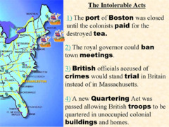 Why were the Intolerable Acts were passed?